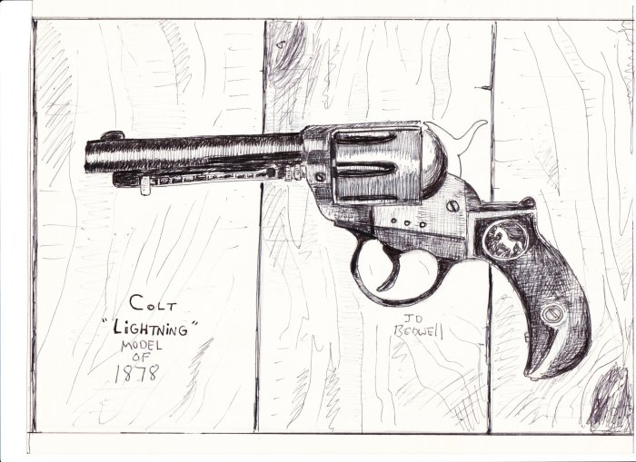 Colt Revolver Drawing That Drawing of The Colt